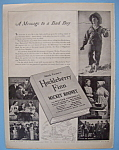 Vintage Ad: 1939 Huckleberry Finn W/ Mickey Rooney