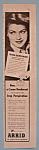 Vintage Ad: 1945 Arrid Deodorant W/ Diana Barrymore