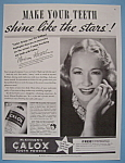 Vintage Ad: 1937 Calox Tooth Powder W/ Miriam Hopkins