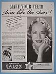 Vintage Ad: 1937 Calox Tooth Powder W/ Miriam Hopkins