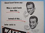 Vintage Ad: 1952 Waxtex Wax Paper W/edward E. Horton