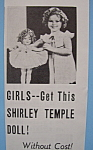Vintage Ad: 1936 Shirley Temple Doll W/shirley Temple