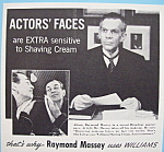Vintage Ad:1941 Williams Shaving Cream W/raymond Massey