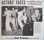 Vintage Ad: 1941 Williams Shaving Cream W/jose Ferrer