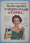 Vintage Ad: 1955 Camel Cigarettes W/teresa Wright