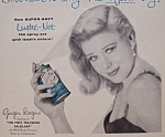 Vintage Ad: 1956 Lustre-net Hair Spray W/ Ginger Rogers