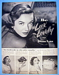 Vintage Ad: 1952 Lux Soap With Diana Lynn