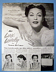 Vintage Ad: 1952 Lux Soap With Yvonne De Carlo