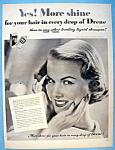 Vintage Ad: 1951 Drene Shampoo With Joan Kemp