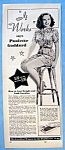 Vintage Ad: 1951 Ayds Reducing Plan W/ Paulette Goddard