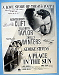 Vintage Ad: 1951 A Place In The Sun W/ Liz Taylor
