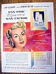 Vintage Ad: 1951 Max Factor Pan Stik With Lana Turner