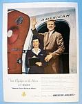 Vintage Ad: 1951 American Airlines W/ Wyman & Johnson
