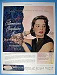 Vintage Ad: 1951 Max Factor Make Up W/ Jane Greer