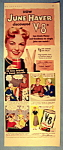 Vintage Ad: 1951 V 8 Juice With June Haver