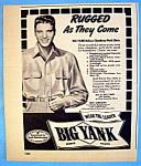 Vintage Ad: 1949 Big Yank Shirts W/ Burt Lancaster