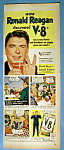 Vintage Ad: 1952 V 8 Vegetable Juice With Ronald Reagan