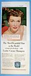 Vintage Ad: 1952 Lustre Creme Shampoo With Jane Wyman