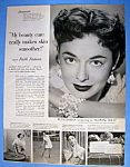 Vintage Ad: 1953 Lux Soap With Ruth Roman