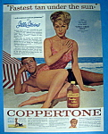 1962 Coppertone Suntan Lotion With Stella Stevens