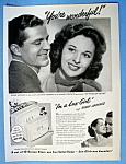 Vintage Ad: 1949 Lux Soap With Susan Hayward