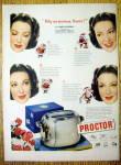 Vintage Ad: 1949 Proctor Toaster W/linda Darnell