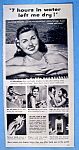Vintage Ad: 1950 Jergens Lotion W/ Esther Williams