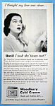 Vintage Ad: 1950 Woodbury Cold Cream W/rosalind Russell