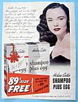 Vintage Ad: 1951 Helene Curtis Shampoo W/ Wanda Hendrix