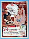 Vintage Ad: 1952 Chesterfield Cigarettes W/piper Laurie