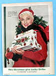 Vintage Ad: 1954 Lucky Strike Cigarettes W/ Ann Sothern
