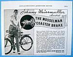 Vintage Ad: 1937 Musselman Hub Brake W/j. Weissmuller