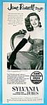 Vintage Ad: 1952 Sylvania Radio Tubes W/ Jane Russell