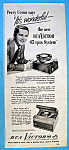 Vintage Ad: 1949 Rca Victor 45 Rpm System W/perry Como