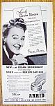 Vintage Ad: 1945 Arrid Deodorant With Grace Moore