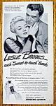 Vintage Ad: 1945 Jergens Lotion With Leslie Brooks