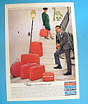Vintage Ad: 1964 American Luggage W/elio Of Madrid