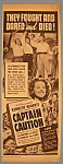 Vintage Ad: 1940 Captain Caution With Victor Mature