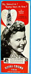 Vintage Ad: 1945 Royal Crown Cola With Shirley Temple