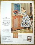 Vintage Ad: 1954 Capehart Am-fm Radio With Irene Dunne