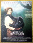 Vintage Ad:1988 Gorillas In The Mist W/sigourney Weaver