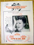 1945 Over 21 With Irene Dunne & Charles Coburn