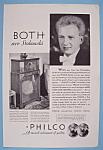Vintage Ad: 1932 Philco Radio W/ Leopold Stokowski