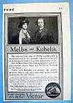 Vintage Ad: 1914 Melba & Kubelik
