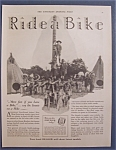 1929 Ride A Bike With Boy Scouts On Hike