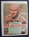 1944 Chesterfield Cigarette With Ernie Pyle