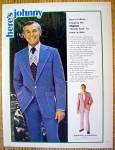 1973 Johnny Carson Apparel W/tonight Show's Johnny