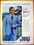 1979 Johnny Carson Apparel With Country Manor Tweeds