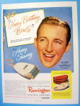 1948 Remington Electric Shaver With Bing Crosby