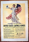 Ww Ii Era 1937 United States Savings Bonds Patriotic Ad